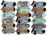 Pesail 10 Stück Jungen Sneaker Socken Größe 23-38 (27-30)
