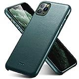 ESR Premium Leder Hülle kompatibel mit iPhone 11 Pro Max-Dünnes leichtes kratzfestes Vollleder Hülle[unterstützt kabelloses Laden]-Schutzhülle für iPhone 11 Pro Max mit Mikrofaserinnenfutter- Grün