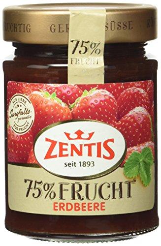 Zentis 75% Frucht Fruchtaufstrich, Erdbeere, 10er Pack (10 x 270 g)