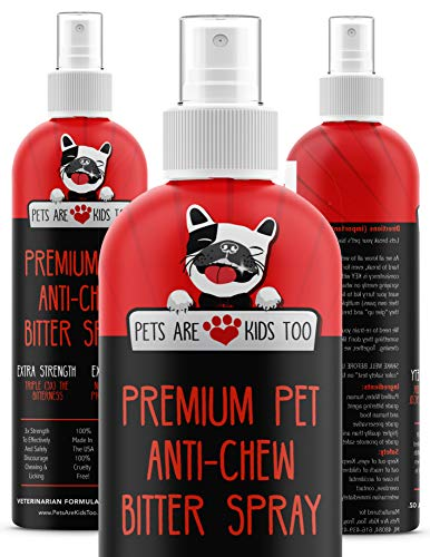 Anti Chew Dog Training Spray: No Chew Bitter Spray and Pet Deterrent for Dogs and Cats - Behavior...