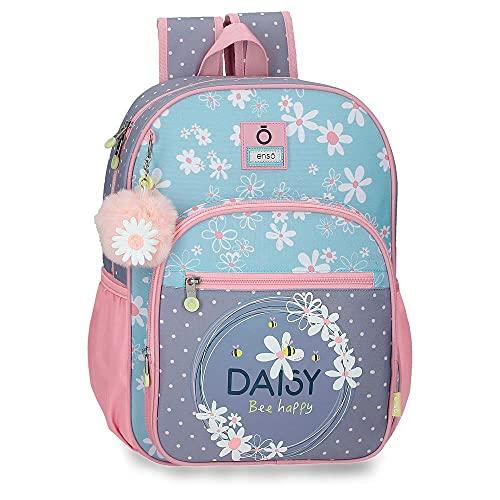 Enso Daisy Mochila Escolar Azul 30x38x12 cms Poliéster 13,68L