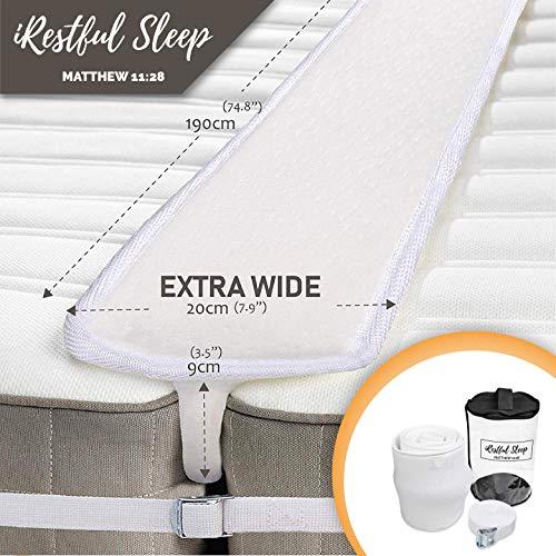 iRestful Sleep Bed Bridge Twin to King Converter Kit (Extra Wide) - Twin Bed Connector King Maker - Mattress Extender/Joiner - Split King Bed Connector for Converting Twin to King Or Twin XL to King