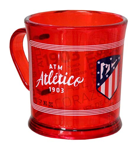 C Y P Atletico DE Madrid Taza de plastico translucida, 0