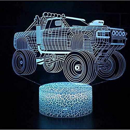 Gepantserde voertuigen model Crepe optische illusie lamp LED 3D lamp sfeerlicht acryl moderne lamp 7 kleuren