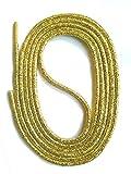 SNORS Schnürsenkel GOLD RUND 3mm, 150cm reißfest, Made in Germany Rundsenkel aus Polyester für Sportschuhe Sneaker Turnschuhe Laufschuhe und Stiefel