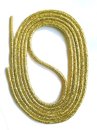SNORS Schnürsenkel GOLD RUND 3mm, 90cm reißfest, Made in Germany Rundsenkel aus Polyester für Sportschuhe Sneaker Turnschuhe Laufschuhe und Damenschuhe