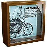 Grandpa Gifts | A 6x6x2'' Themed Shadow Box for Grandpa | Unique Grandfather Keepsake Display Case | Papa Fathers Day & Birthday Present Idea from Grandchildren | Inspirational Grandparent Home Decor