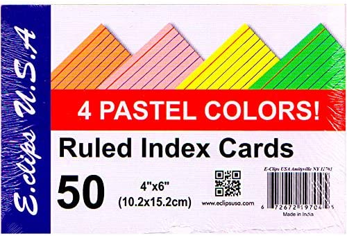 Index cards lowest price Excellent 4