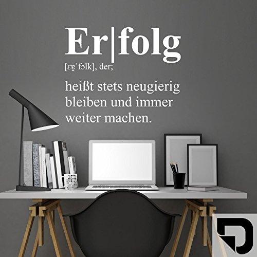 DESIGNSCAPE® Wandtattoo Erfolg Definition | Wandtattoo fürs Büro oder Arbeitszimmer 54 x 44 cm (Breite x Höhe) schwarz DW803267-M-F4