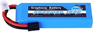 YOWOO Graphene Battery 3S 5000mAh 100C 11.1V Lipo Rechargeable Battery with Traxxas Plug for 1/8 Scale Vehicles Arrma Slash VXL Slash 4x4 VXL E-maxx Brushless Axial e-revo Brushless and Spartan Models
