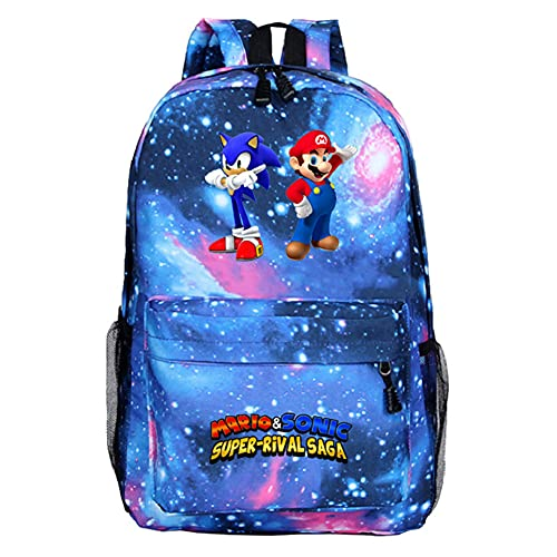 1pcs Anime Zaino - Zaino per scuola, Super Mario Anime zaino Scuola, Viaggio Zaino Ragazzi Ragazze Backpack ( Super Mario)