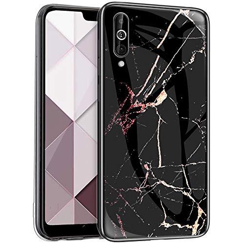 Surakey - Carcasa para Samsung Galaxy A60S, ultrafina, de cristal templado con marco de TPU resistente a los arañazos, suave protección contra golpes, Mármol C