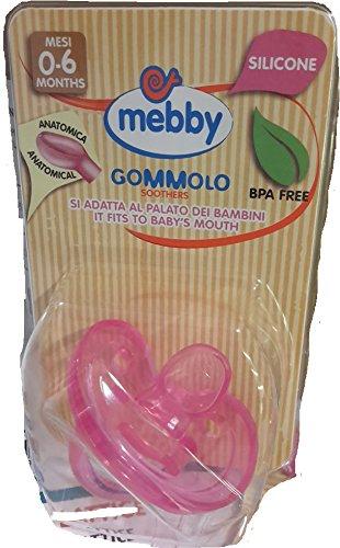 MEBBY GOMMOLO SILICONE 0-6M ROSA