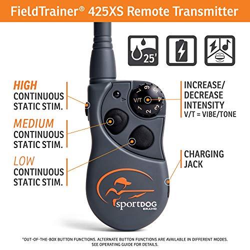 1: SportDOG Brand 425 Remote Trainers (Best dog Training Collar  for Stubborn Dog)
