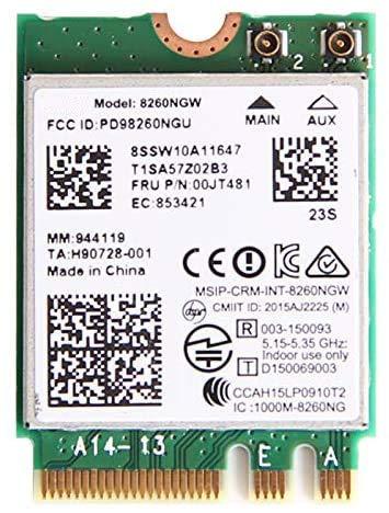 RCC AC 8265 8265AC NGFF WiFi Card USE 8265 AC AC8265 8265NGW M.2 NGFF 2.4/5GHz Bluetooth 4.2 Wireless WiFi Card 867 Mbps for Lenovo X270 T470 T470S T470P L470 L570 P51 P51S P71 E470 E570