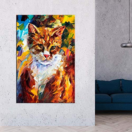 Tela Decorativa Pintura Gato