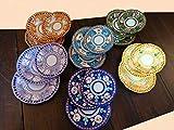Piatti Vietri Ceramica vietrese Linea Animaletti 6 Piatti Fondi, 6 Piatti Piani, 6 Piatti Frutta 3 Variante