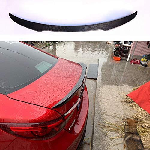 MADAENMJ Alerón Trasero De Fibra De Carbono Real para Coche, Alerón para Puerta Trasera, Alerón Trasero para Maletero, para Mazda 3 Axela Sedan 4 Puertas 2014 2015 2016 2017 2018, Accesorio