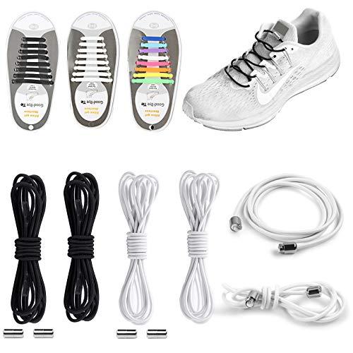 YUNDE Shackcom - 10 pares de cordones elásticos sin atar,...