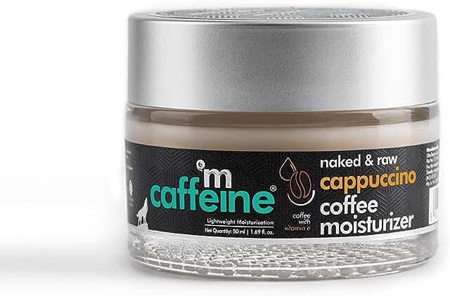 mCaffeine Lightweight Cappuccino Coffee Moisturizer | Soothes & Tones Skin | Vitamin E, Almond Milk | All Skin Types | Par...