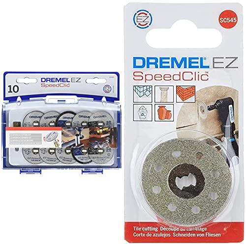 Dremel Sc545 - Disco de Corte de Diamante Ø 38,0 Mm + 2615S690Ja Juego de Accesorios Ez Speedclic (Sc690)