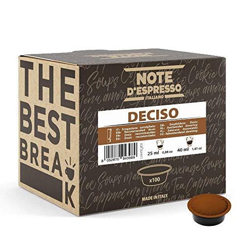 Note d'Espresso Kaffeekapseln für Lavazza und A Modo Mio Kaffeemaschinen, Deciso, 7g (100-er Pack)