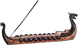 Vosarea Dragon Boat Incense Carved Incense Burner Decoration Incense Holders for Short Stick Incense Home Ornaments