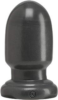 Doc Johnson American Bombshell - Shell Shock - Small - Vac-U-Lock and F Machine Compatible Dildo or Butt Plug - Gunmetal Grey