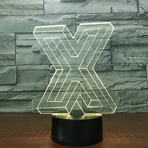 Lámpara De Mesa 3D De 7 Colores Con Letra Extraña, Nueva Luz Estereoscópica Con Interruptor Táctil, Luz Nocturna