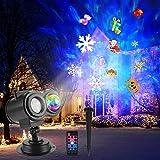 ROVLAK LED Proyector Luces IP65 Impermeable Proyector Luz con Control Remoto 3D Rotación Olas de Agua Lámpara de Proyección Al Aire Libre Luz de Jardín Proyector para Navidad Fiesta Halloween