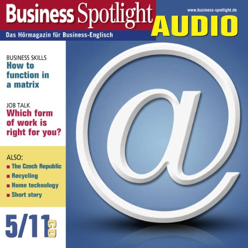 Business Spotlight Audio - How to function in a matrix. 5/2011 Titelbild
