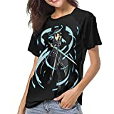 huatongxin Anime Sword Art Online Camiseta de béisbol Mujer Raglan Manga Corta Clásico Deporte Cuello Redondo Camisetas
