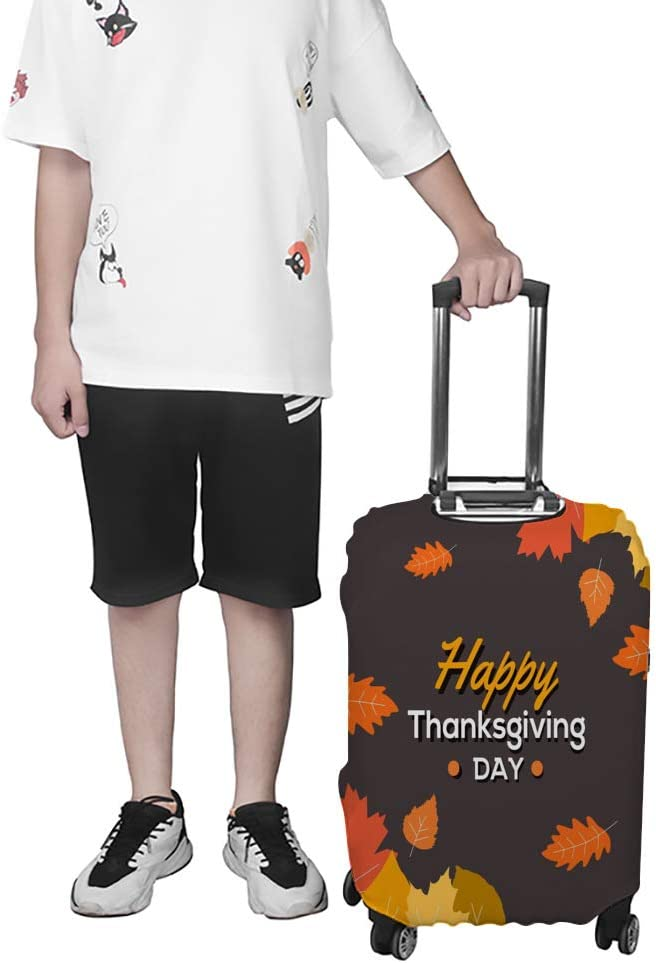 Zhongji Luggage Cover Trolley Case Protective Cover Happy Thanksgiving Protective Washable Suitcase Cover Suitcase Protector