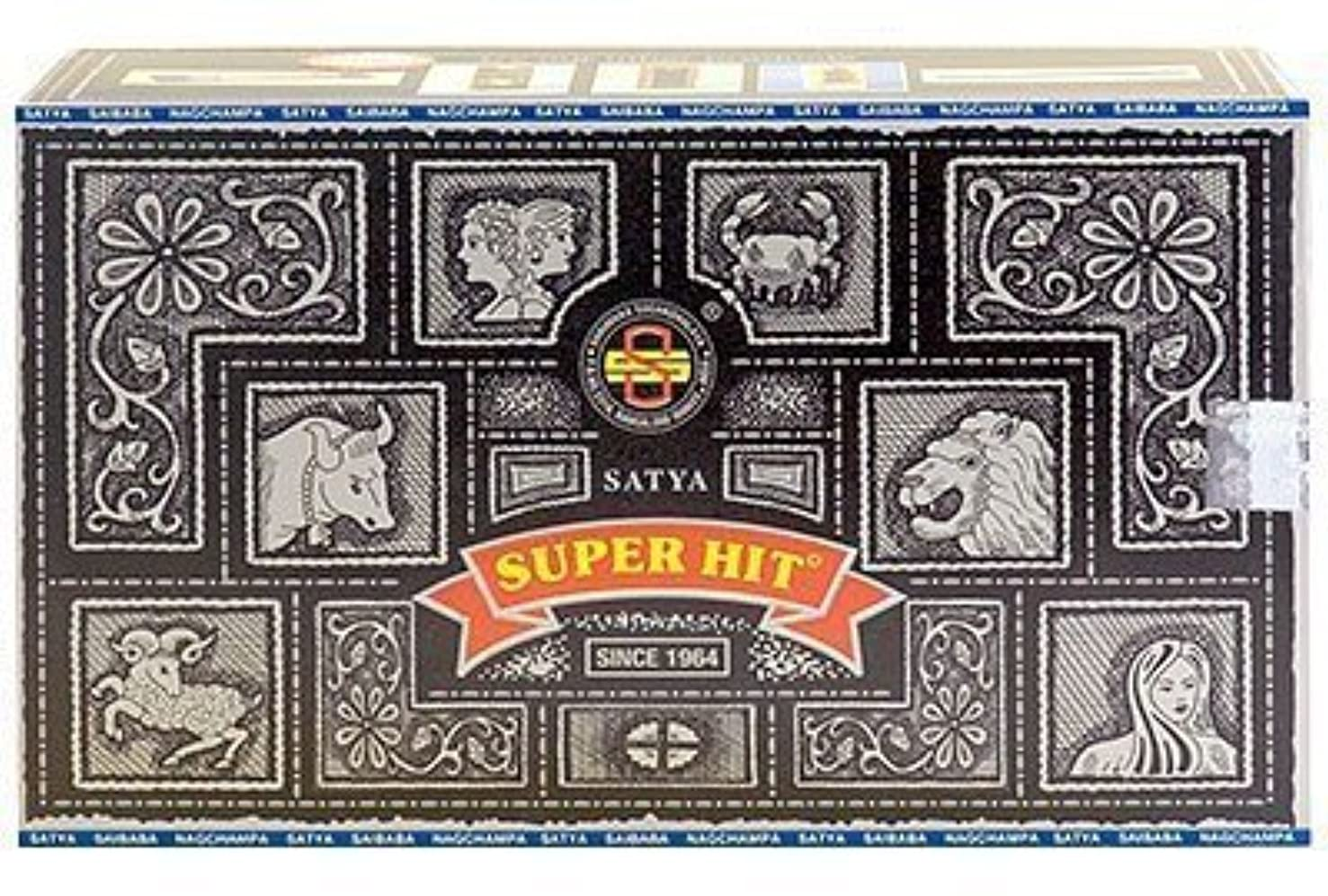 ディベート啓示人口Super Hit Incense Sticks 480g (12pkgs. x 40g) by Satya [並行輸入品]