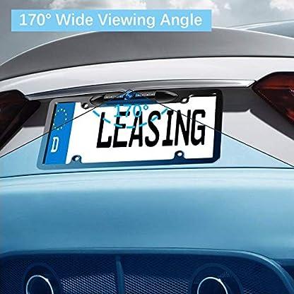 Wasserdicht-HD-Farbe-Breiter-Betrachtungswinkel-License-Plate-Auto-Kamera-Fahrzeug-Rueckfahrkamera-Parking-Backup-Cam-mit-Richtlinie-und-7-Infrarot-Nachtsicht-LED