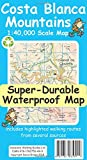 Costa Blanca Mountains Tour and Trail Super Durable Map