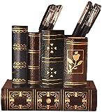 Goquik 1 soporte de madera para bolígrafos, multifuncional, caja de almacenamiento de escritorio, ideal para guardar papelería, brochas de maquillaje, varios gadgets