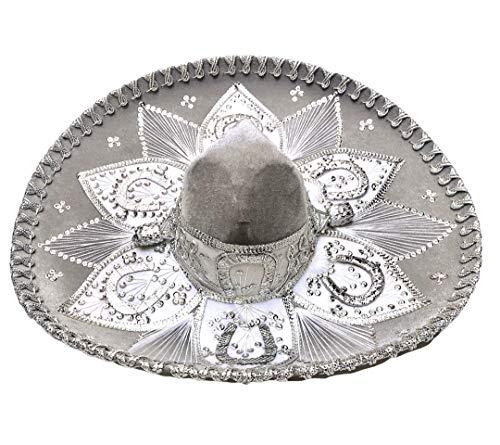 Sombreros Mexicanos Sombrero Charro Hat, Mariachi Sombrero hat Mexico Hat Mexican Sombreros Charro Dress Costume Themed Parties (Choose Color) Grey/Silver