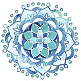 Screen Door Magnets – Twist, Click and Lock Design - Keep People and Pets Safe - Blue Mandala