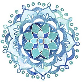 Screen Door Magnets – Twist Click and Lock Design - Keep People and Pets Safe - Blue Mandala