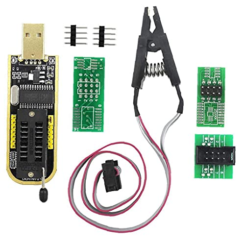 Programador USB de alta velocidad con CH341A Accesorios SOP clip para la mayoría de la serie EEPROM 24 25 BIOS de la viruta