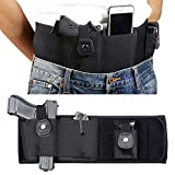 Knownyou Belly Band Holsters for Concealed Carry,Tactical Gun Holster for Women Men Breathable Neoprene Waist Pistol Holster with Pouch, Fits Most Pistols and Revolvers (Left Hand 50 in)