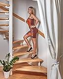 foto-kontor Tiras Antideslizantes para escaleras y peldaños de Color Transparente Blanco 18 Tiras Antideslizantes para Escalar
