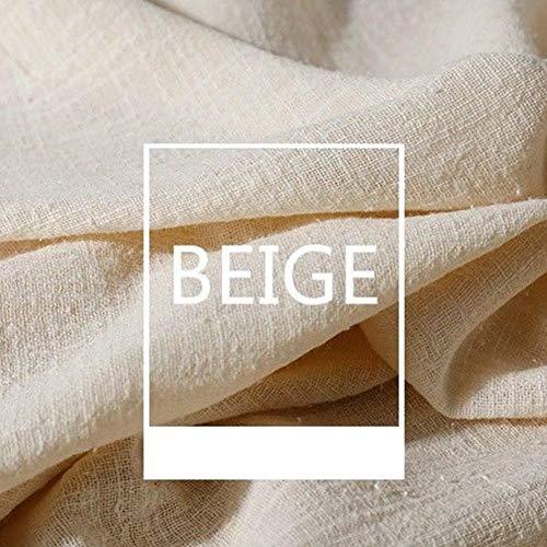 Tela de lino, tela de lino lisa, tela de lino natural para bordado, tela de punto de cruz de lino para ropa, manualidades, tapicería, decoración de macetas y mantel, beige, 2pcs 130x100cm