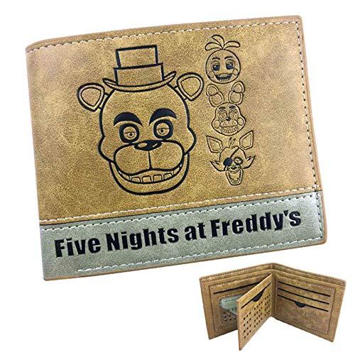 Five Nights FNAF Bär Fazbear Pizza-Kartenhalter Anime Muster Druck Brieftasche Das beste Geschenk für FNAF Fans 12 x 10 x 2 cm