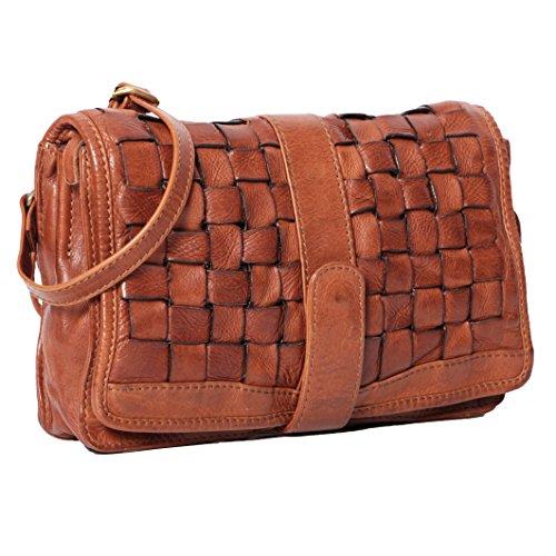 ALMADIH borsa a tracolla in pelle borsetta intrecciato satchel sacchetto borse tote donna shopping borse a mano grande capacita borse a spalla Cuoio messenger uso quotidiano il tempo libero Marrone