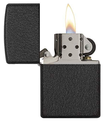 Zippo Black Crackle Lighter - Black Crackle