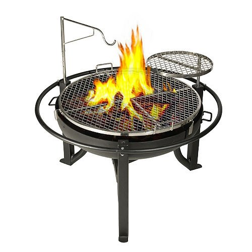 Cowboy Charcoal Grill and Fire Pit, 31-Inch