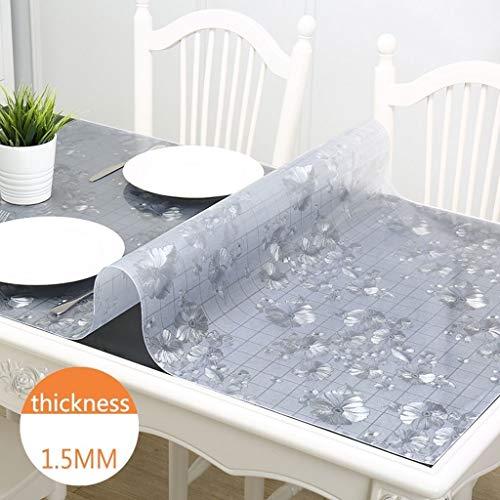HuiHFB Tafelset, voor buiten, tafelkleed, beschermer, 1,5 mm, antislip, waterdicht, rechthoekige kunststof pvc