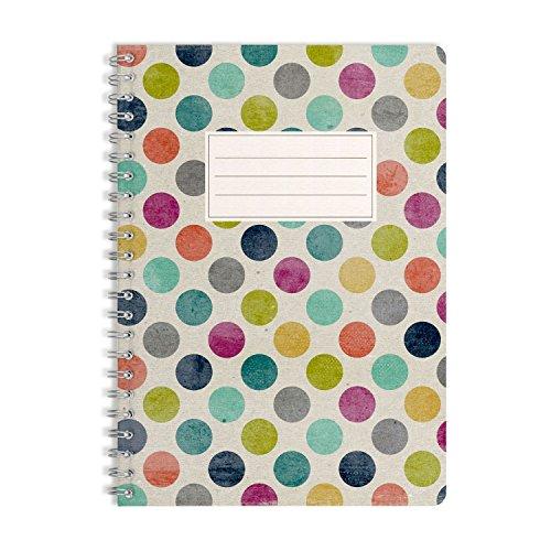 WIREBOOKS Notizbuch | Notizblock | Notizheft | Spiralblock 5053 DIN A5 120 Seiten 100g Papier blanko